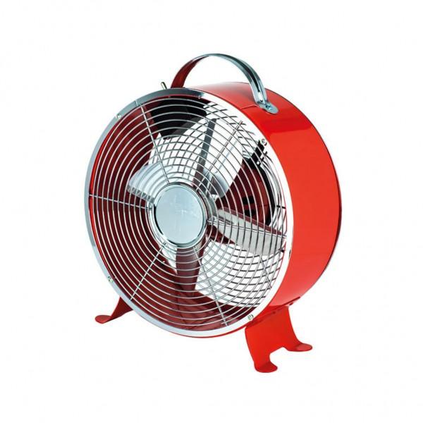 Ανεμιστήρας επιτραπέζιος κόκκινο χρώμα Φ20 ισχύος 15W 230V με 2 ταχύτητες κυκλικός