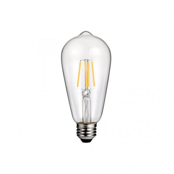 ΛΑΜΠΑ LED ST64 FILAMENT 7W E27 2200K 220-240V CLEAR DIMMABLE EUROLAMP
