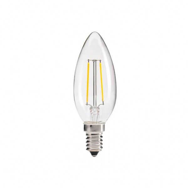 ΛΑΜΠΑ LED κερί FILAMENT 4W E14 2700K 220-240V DIMMABLE  EUROLAMP