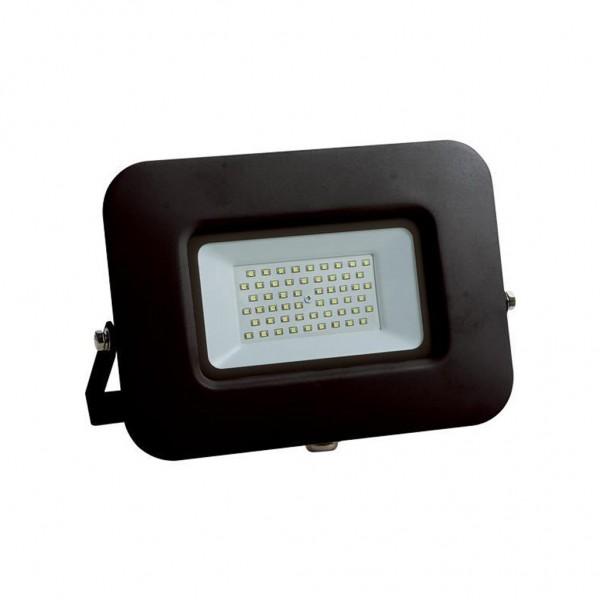 ΠΡΟΒΟΛΕΑΣ LED SMD ΒΑΣΗ 360° PLUS 50W ΜΑΥΡΟΣ IP65 6500K PLUS
