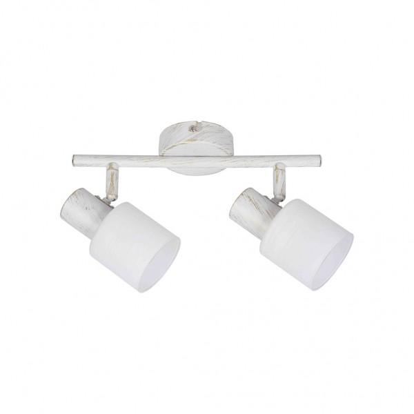 Επιτοίχιο φωτιστικό σποτ από μέταλλο σε απόχρωση λευκής πατίνας 2xΕ14  InLight