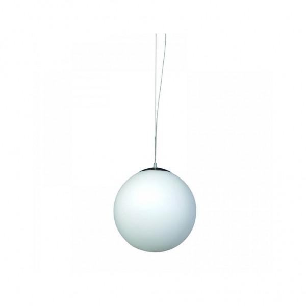 Κρεμαστό φωτιστικό από λευκή οπαλίνα σφαιρικό 1XE27 InLight 40cm