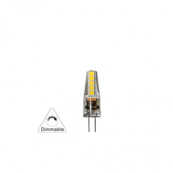 ΛΑΜΠΑ LED ΣΙΛΙΚΟΝΗΣ SMD G4 2.5W 12VAC/DC ΝΤΙΜΑΡΙΖΟΜΕΝΟ 6200Κ