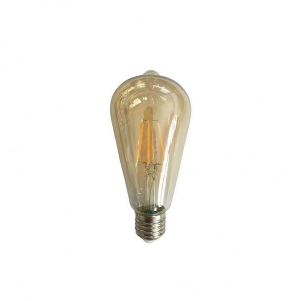 ΛΑΜΠΑ LED ST64 FILAMENT 4W E27 2400K 220-240V GOLD