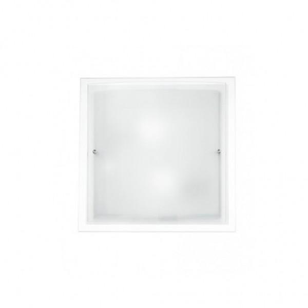 Πλαφονιέρα τοίχου λευκή 2xΕ27  Dritta-Curva Fan Europe