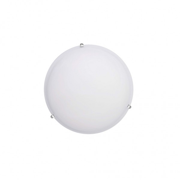 Πλαφονιέρα Τοίχου με γυαλί 1ΧΕ27 30cm λευκό 42154Β  InLight