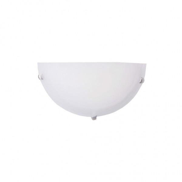 Απλίκα  Τοίχου με γυαλί λευκό ή μελί 43366  InLight