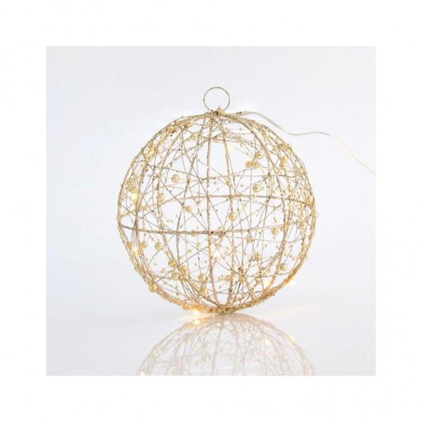 Χριστουγεννιάτικη Μπάλα φωτιζόμενη με GLITTER, 20 LED, 25CM