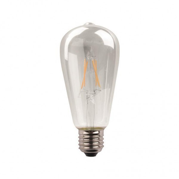 ΛΑΜΠΑ LED ST64 CROSSED FILAMENT 11W E27 3000K 220-240V DIMMABLE CLEAR