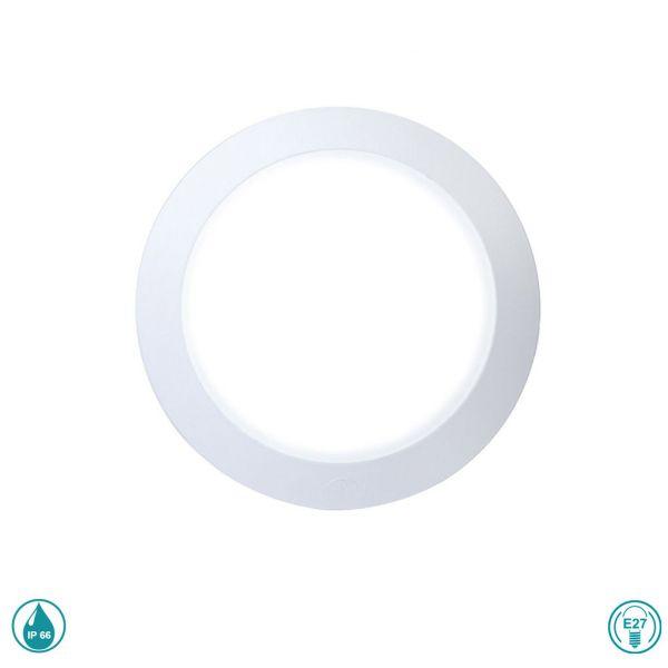 Φωτιστικό απλίκα εξωτερικού χώρου Ε27 λευκό στρογγυλό Berta 1B2.000.WYP27 Fumagalli