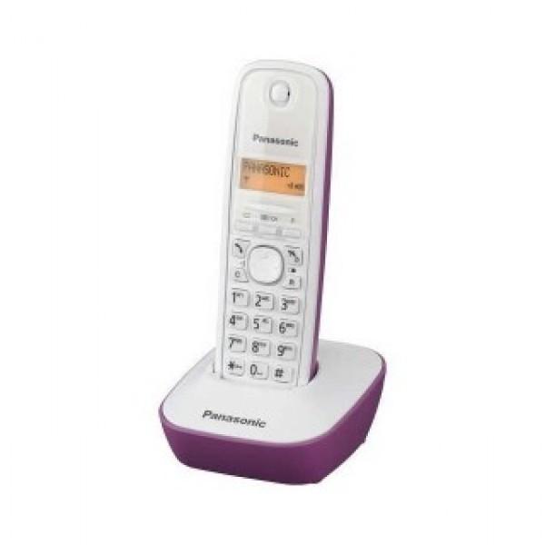Ασύρματο Ψηφιακό Τηλέφωνο Panasonic KX-TG1611 (EU) Λευκό-Μωβ