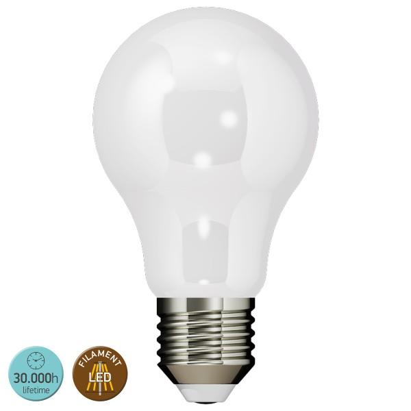 ΛΑΜΠΑ LED FILAMENT MILKY E27 10W 6000K 900LM