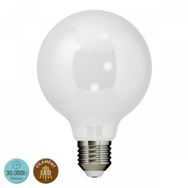 ΛΑΜΠΑ LED FILAMENT E27 8W 2700K 720LM MILKY
