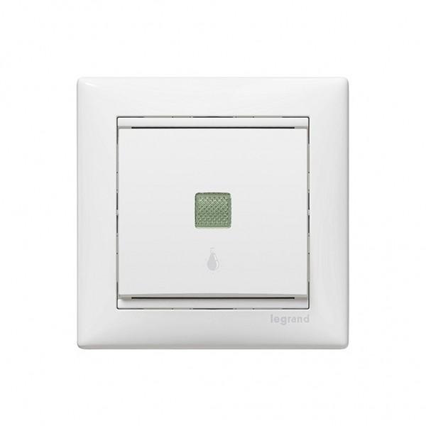 Μπουτόν κλιμακοστασίου φωτεινό 230V λευκό Legrand Valena